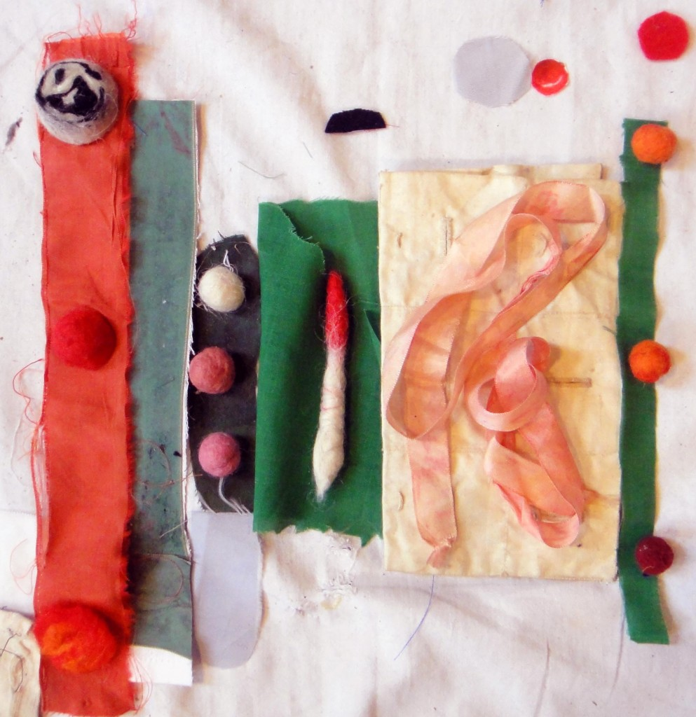 Banketje, sketches,                               , textile art